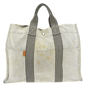 Hermès Hand Canvas Tote in Gray