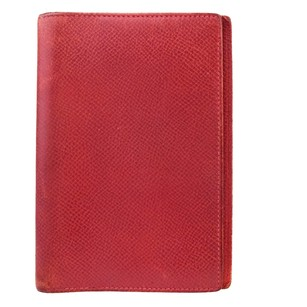 Hermès Hermes Notebook Leather Red Clutch