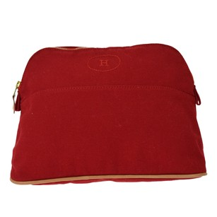 Hermès Hermes Pouch Leather Red Clutch