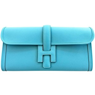 Hermès Hermes Saint Blue Clutch