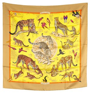 Hermès Hermes Silk Scarf kindness of wild(Authentic Pre Owned)