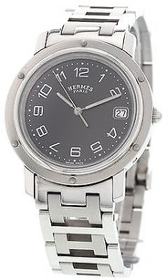 Hermès Mens Hermes Clipper Stainless Steel Watch Cl6.710