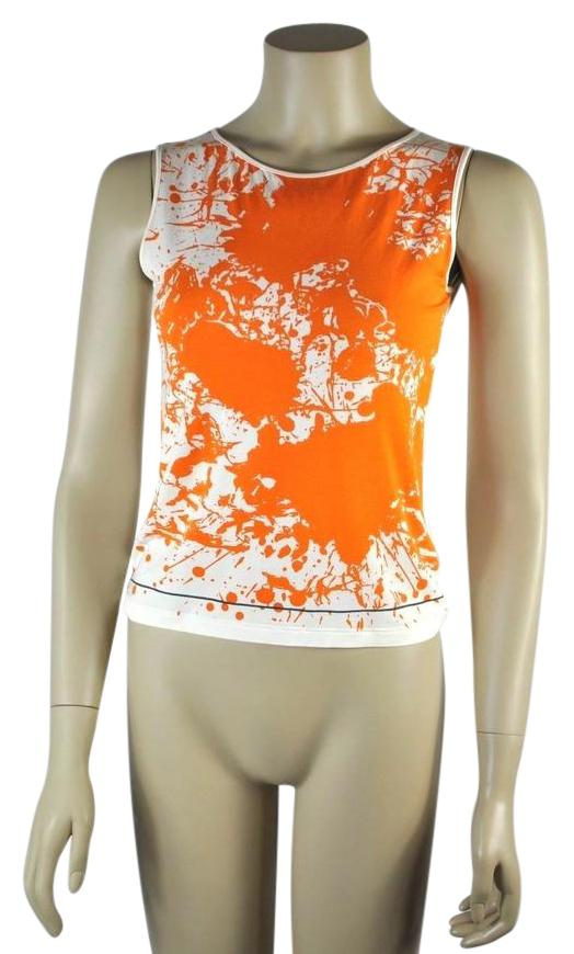 Clearance With Credit Card Outlet For Sale Hermès Printed Sleeveless Top Buy Cheap Wholesale Price Huge Surprise Online giM851PGO