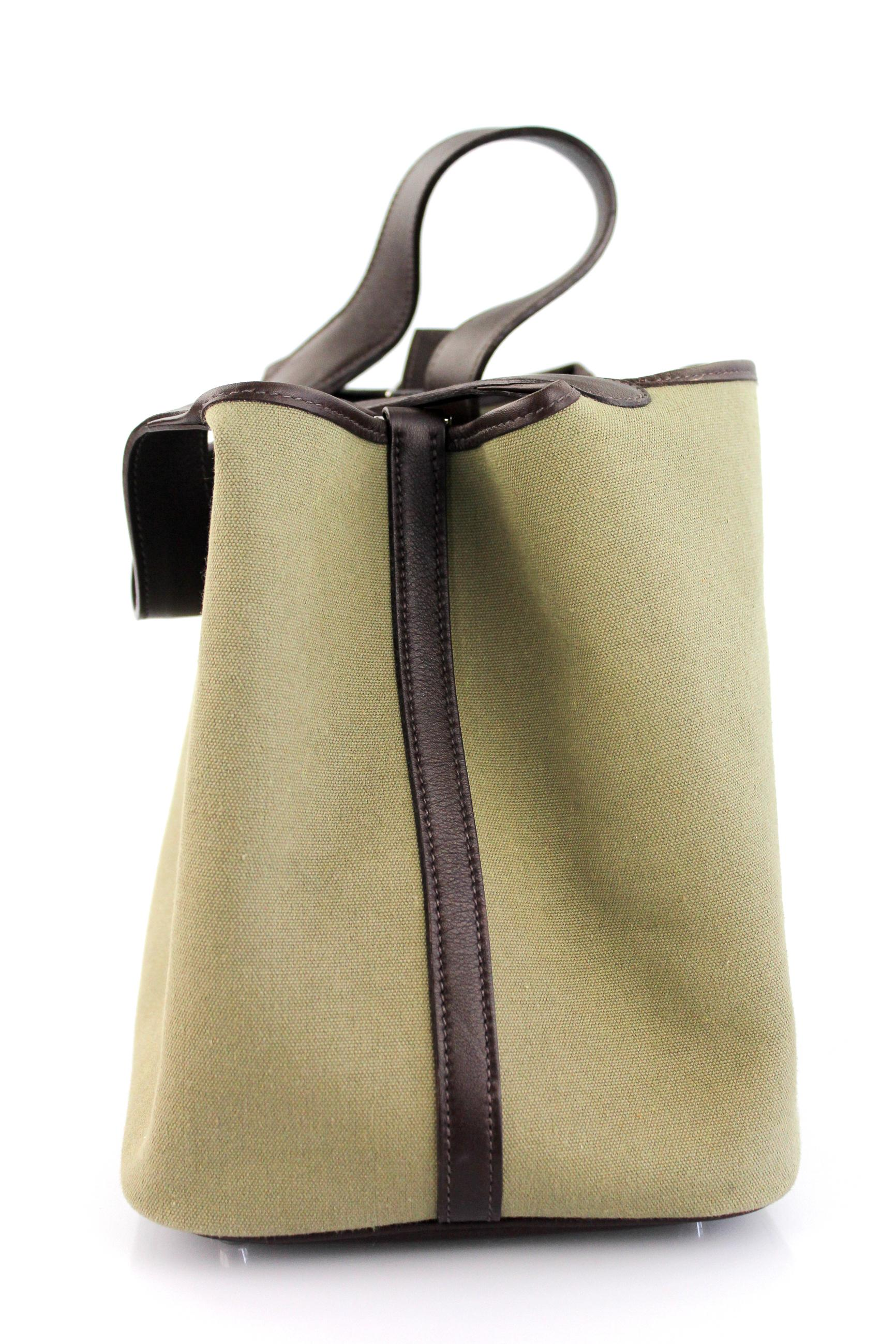 e9ac700c87b9 7a1d2 8cc11  coupon for hermès picotin handbag toile and leather mm olive  green canvas tote ba0f8 72adb