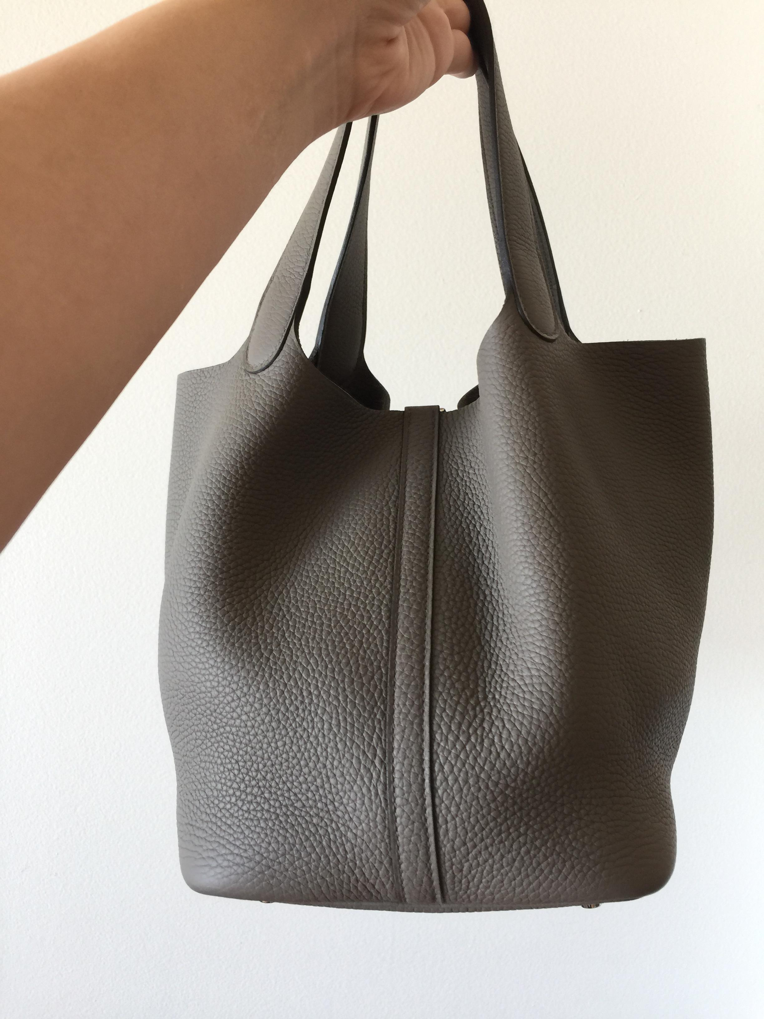 cfbbad58dadfc ... where can i buy hermès picotin lock 22 medium clemence etain color tote  tradesy 69771 bc0b4 ...