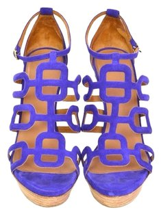 Hermès Purple Suede Sandals