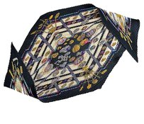 Hermès Rdc5826 Hermes 1987 Black Petite Main Pleated Silk Twill Scarf 90cm