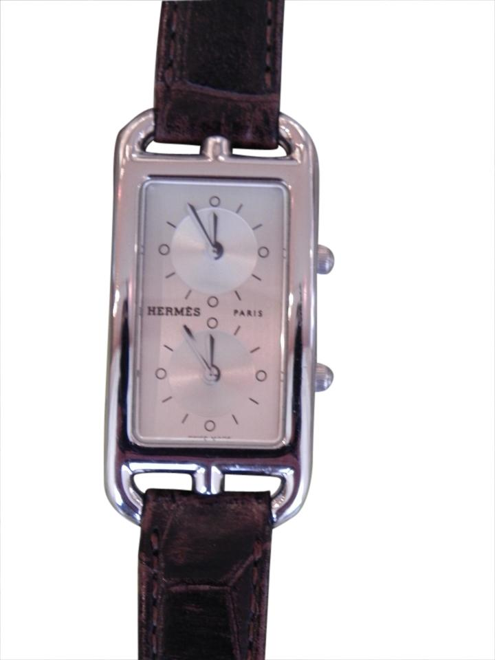 Herms Hermes Dual Time Zone Ladys Watch