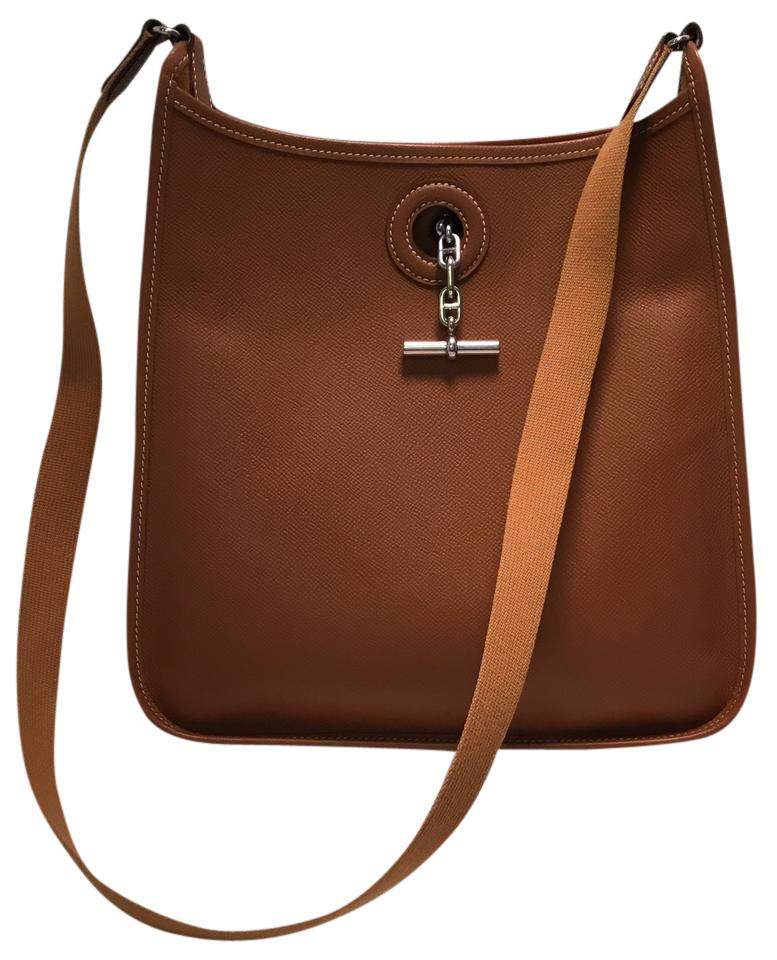 976170e2fd33 denmark hermes brown leather shoulder bag e61c9 50cb1