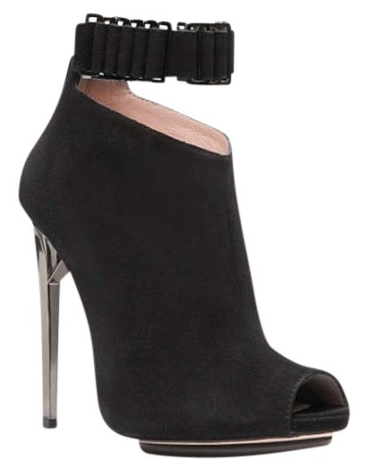 2014 new for sale Herve Leger Suede Peep-Toe Booties purchase for sale finishline T8ifJD
