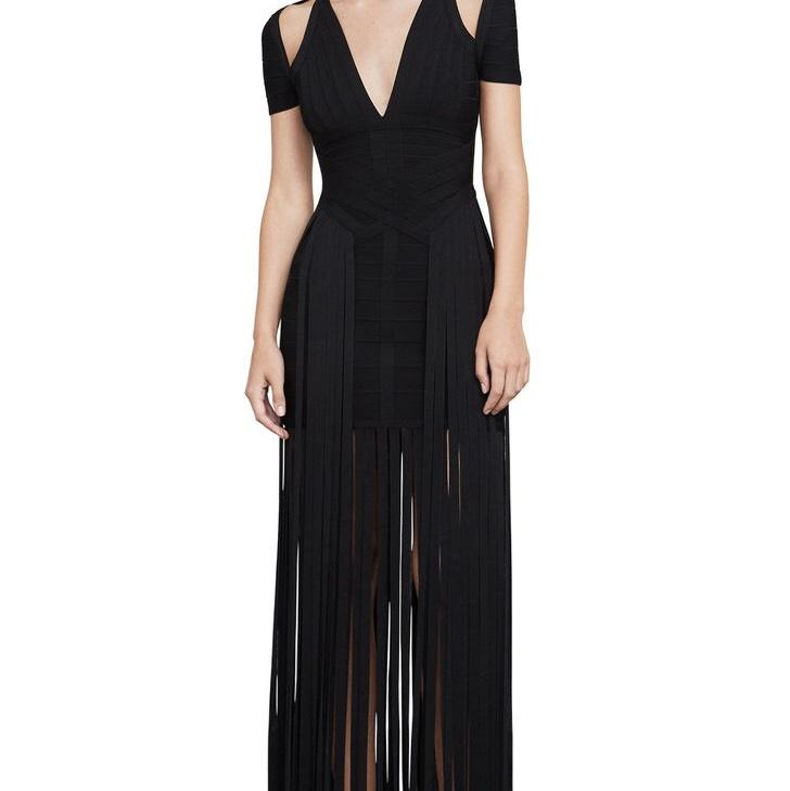 Herve Leger Geena Fringe Dress Online Cheap Price Great Deals Free Shipping Pay With Paypal ODFplkhc9