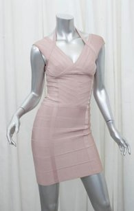 Hervé Leger Herve Womens Blush Dress