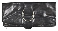 Hobo International Hobo Womens Black Clutch Leather Wallet Purse Handbag