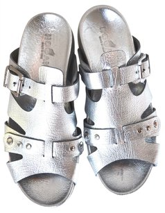 Hogan Gladiator Silver Metallic Sandals