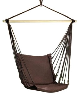 Home Locomotion Espresso Cotton Padded Swing Chair