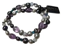 Honora Honora Purple Iridescent Freshwater Pearl Stone Set Of Bracelets B3379