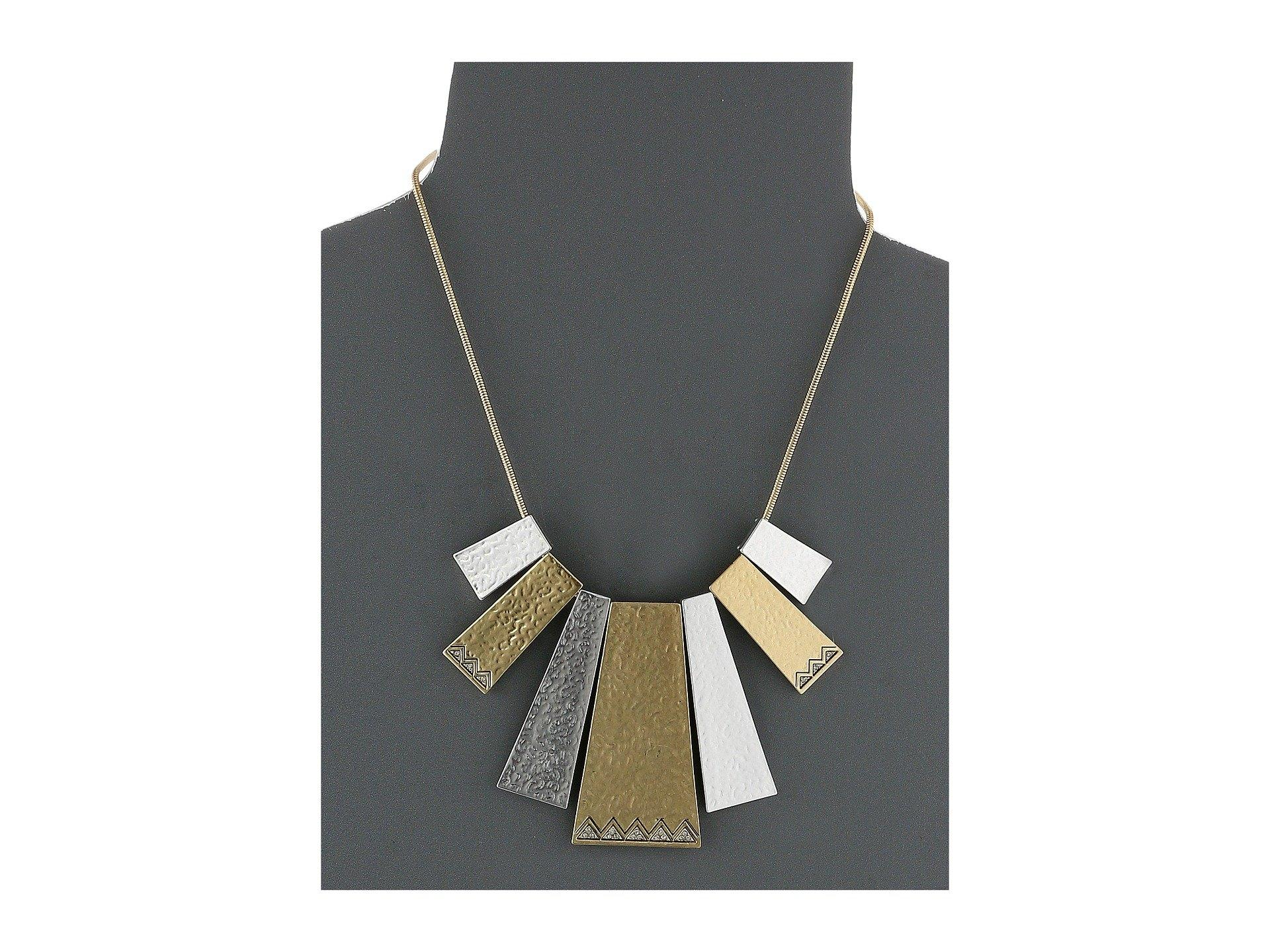 House Of Harlow Scutum Statement Necklace in Metallic Gold 4DE4rDw2