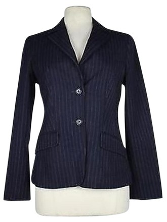 b2b5b4342808 Hugo Boss Boss Bugo Boss Womens Navy White Pinstripe Blazer Long Sleeve  Basic Jacket 80%