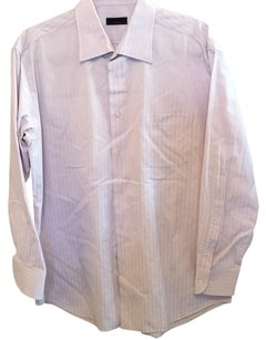 Hugo Boss Button Down Shirt Purple stripes