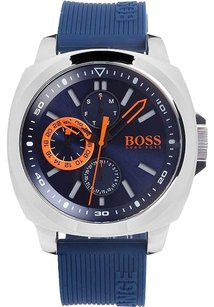 Hugo Boss Hugo Boss Brisbane Blue Dial SS Silicone Multi Quartz Men's Watch 1513102