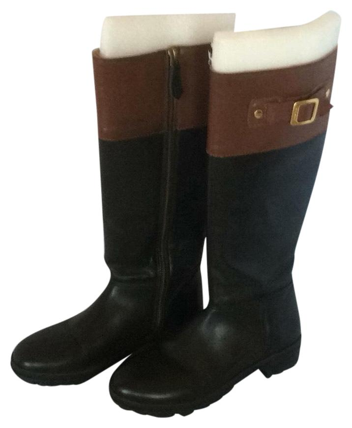 Hunter Black Leather Tall Boots/Booties Size US 7 Regular (M, B)
