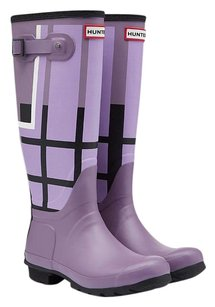 Hunter Tall Tartan Boot Dusty Purple Boots