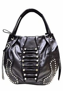 Hype Claudia Leather Silver Stud Tote 200241bjb Hobo Bag