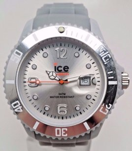 Ice Watch Ice Watch Mens Si.sr.u.s.09 Sili Collection Grey Dial Silicone Watch Broken
