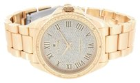 IceTime Diamond Icetime Watch Mens Rose Gold Finish Analog Roman Number Dial