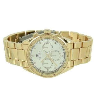 IceTime Icetime Watch Yellow Gold Tone White Dial Timezone Look Water Resistant Classy