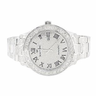 IceTime Mens Icetime 47mm Carat Diamond Joe Rodeo Jojino Roman Dial Datejust Watch