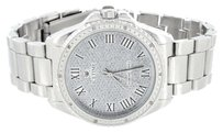 IceTime Stainless Steel Back Watch Mens Genuine Diamonds Icetime Water Resistant Classy