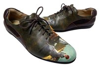 Icon Hand Painted Oxford Usa Multi-Color Flats