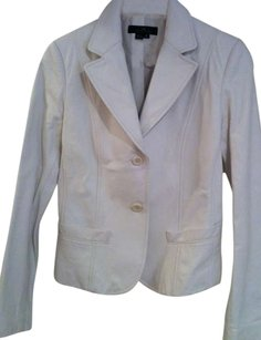 Id Collection Leather WHITE Blazer