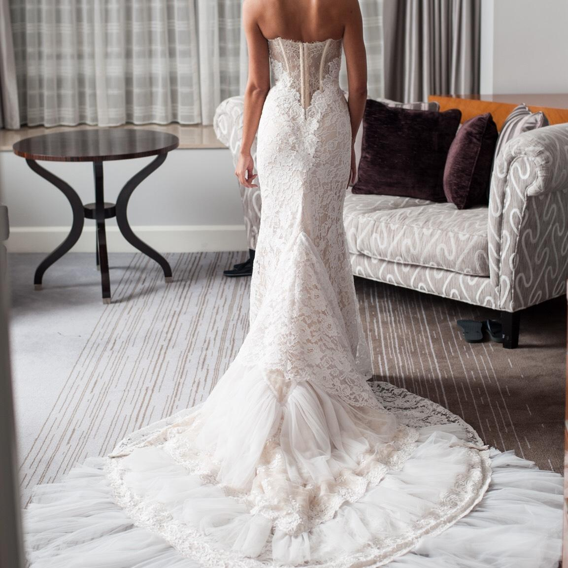 Inbal Dror Wedding Gowns For Sale: Inbal Dror Ivory Lace Sexy Dress Size 4 (S)
