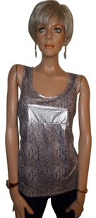 INC International Concepts Top Silver Metallic