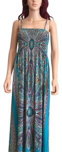 Turquoise/Multi Maxi Dress by India Boutique Maxi Patio