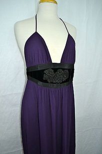 Purple Maxi Dress by Ingwa Melero Aubergine
