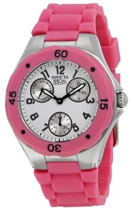 Invicta INVICTA Angel Multi-Function White Sunray Dial Pink Silicone Ladies Watch 18791 IN18791