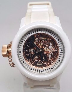 Invicta Invicta Womens 1827 Russian Diver White Skeleton Dial Watch Rip