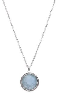 Ippolita Ippolita Sterling Silver Topaz Diamond Lollipop Pendant Necklace