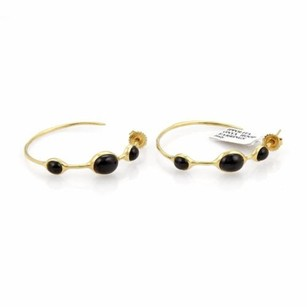 Ippolita Ippolita Black Onyx 18k Yellow Gold Hoop Earrings