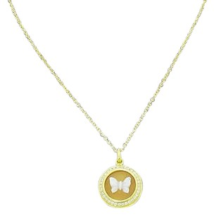 Ippolita Ippolita Lollipop 18k Gold Butterfly Cameo Necklace With Diamond Quartz N353