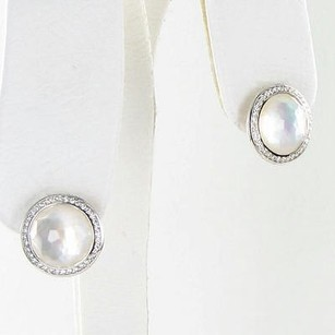 Ippolita Ippolita Stella Stud Earrings 0.29cts Diamond Mother Of Pearl 925