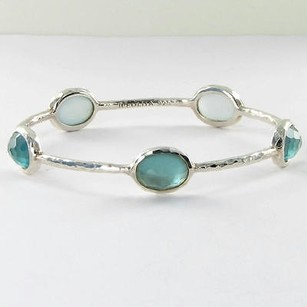 Ippolita Ippolita Wonderland Denim Stone Bangle Bracelet Blue Quartz Mop 925