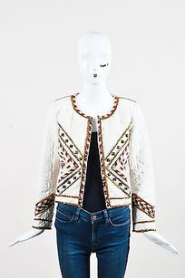 Isabel Marant Cream Red Twill Multi-Color Jacket