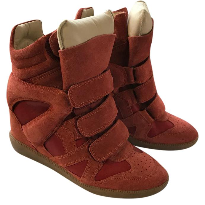 63b6239a4d45 Isabel Marant Burnt Red Sneakers Sneakers Size US US US 6 Regular (M ...