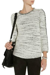Isabel Marant Knit Crew Neck Boucle Top Gray