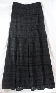 Isabel Marant Boho Chic Maxi Skirt Black