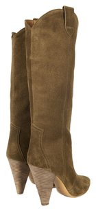 Isabel Marant New Western Brown Olive Brown/Olive Color Boots